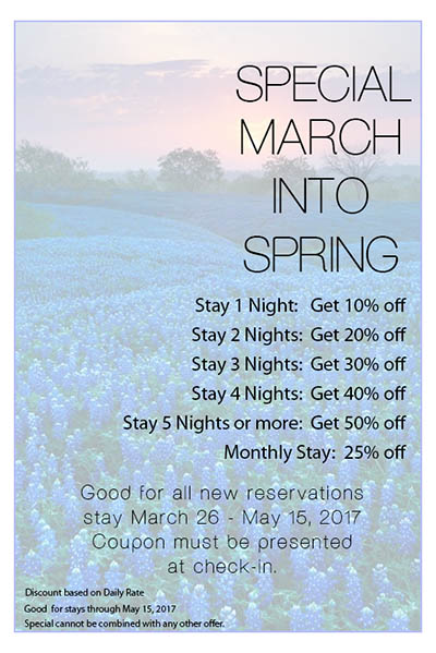 march into spring savings