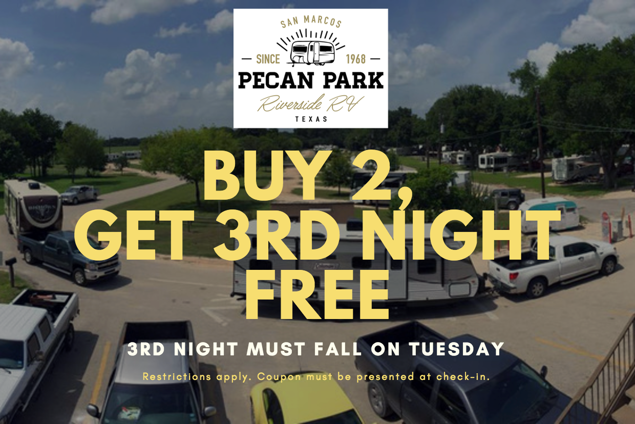 Free Night Stay San Marcos RV Park