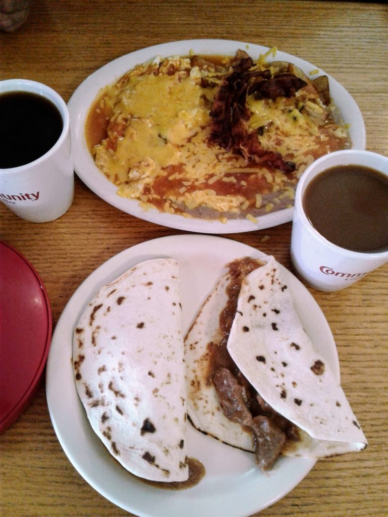 Palm Cafe Breakfast Tacos in San Marcos Texas