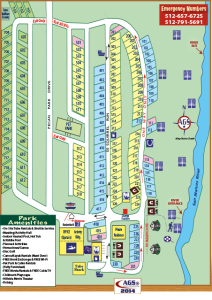 Pecan Park Campground Map - 2015