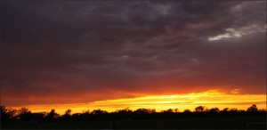 beautiful sunset in the hill country of texas