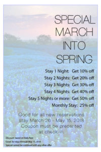 March Into Spring Coupon - 2018
