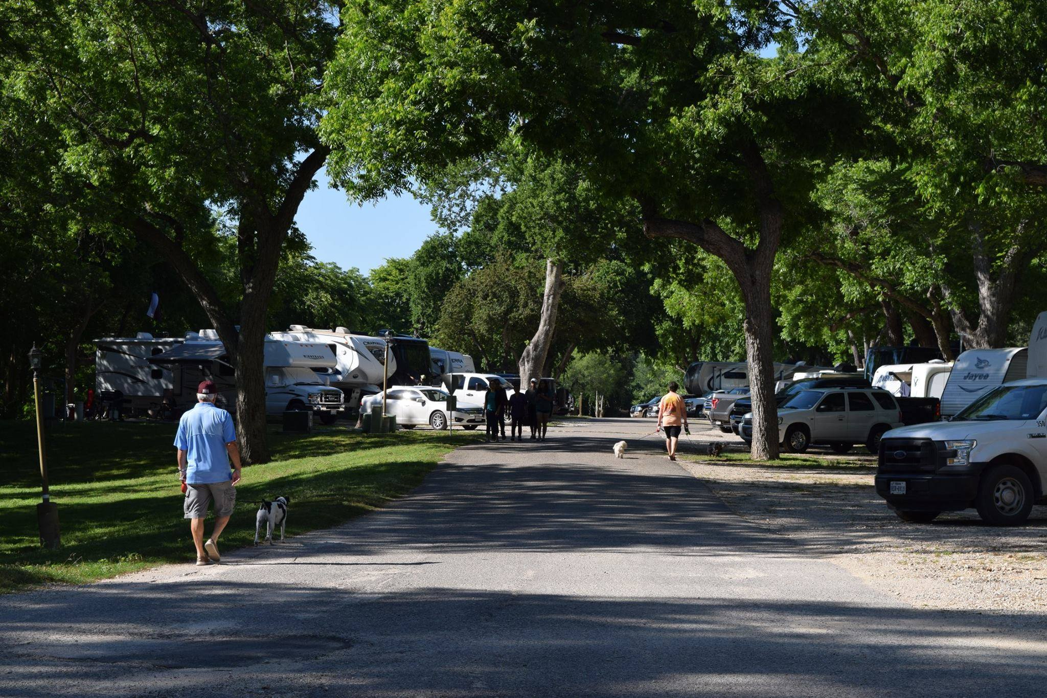 Shaded RV Sites in San Marcos, Texas