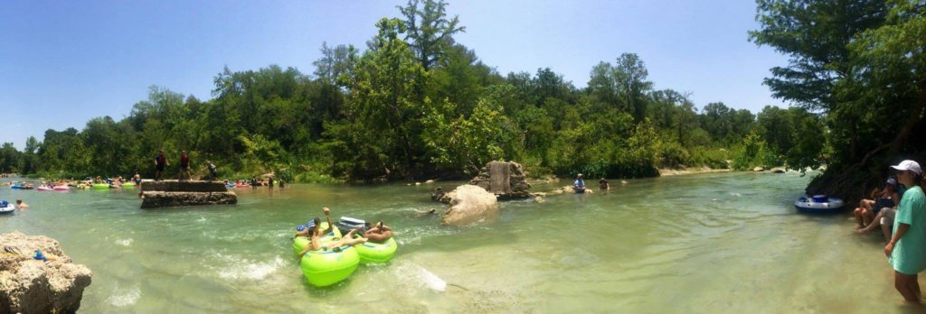 Tubing San Marcos River by Pecan Park