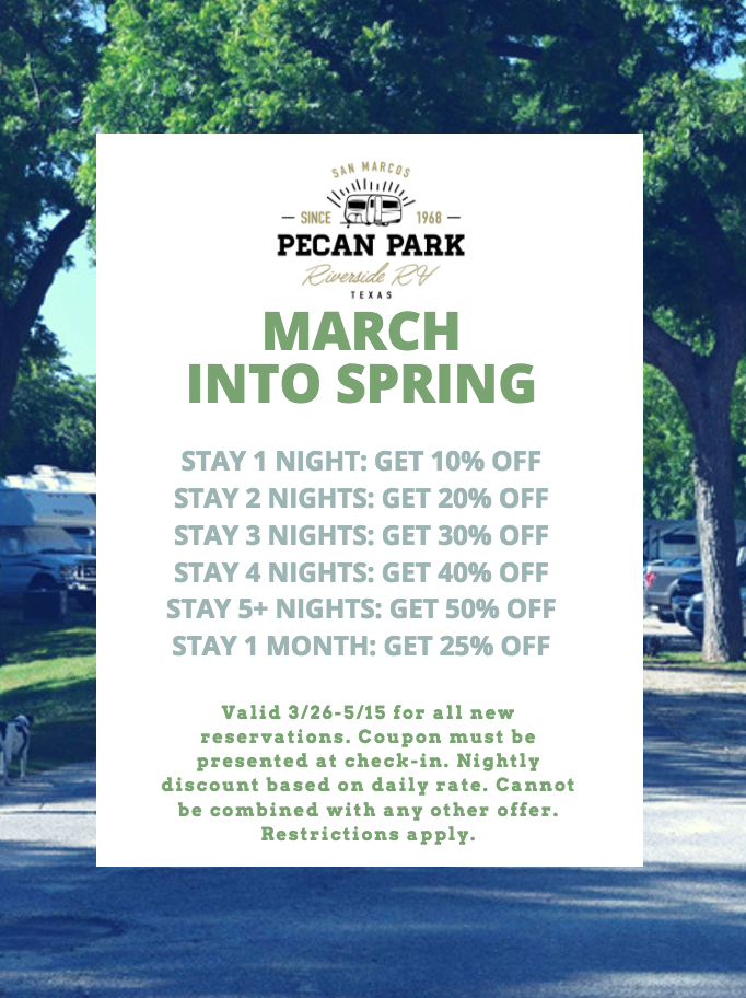 Spring RV Camping Coupon Texas