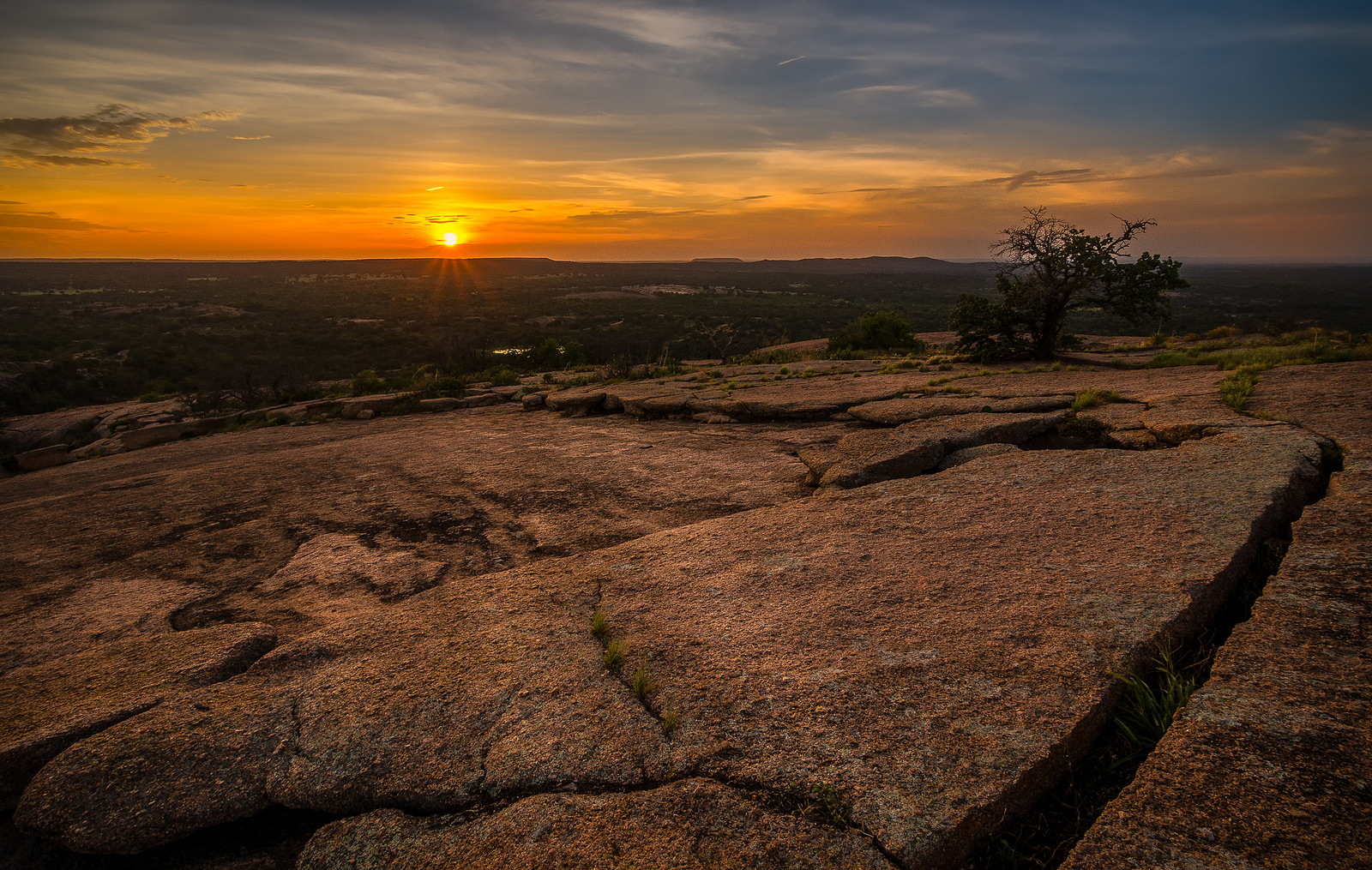 Enchanted Rock Summit Sunset in Texas