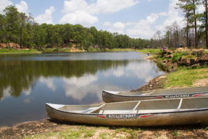 Canoes at Bastrop State Park