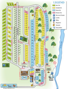 Pecan Park RV Campground Map