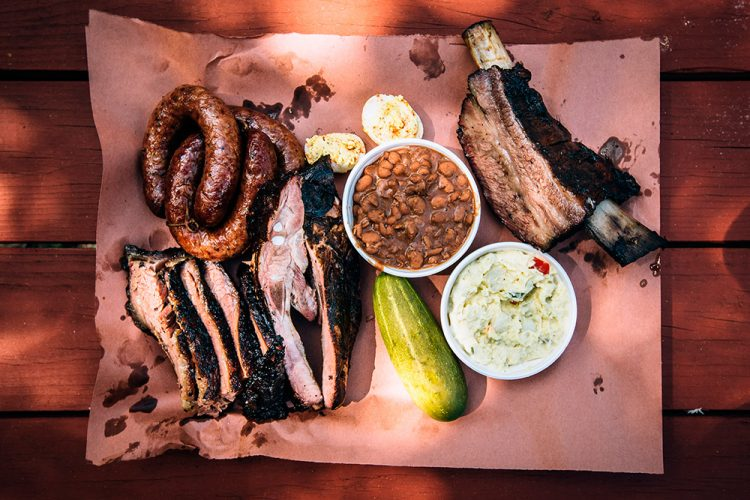 Black's Barbecue Meat in San Marcos, TX