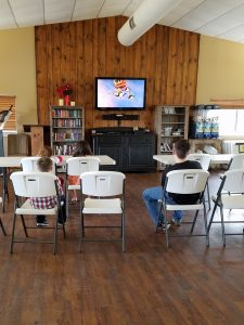 Watching Movie Activity Room at Pecan Park