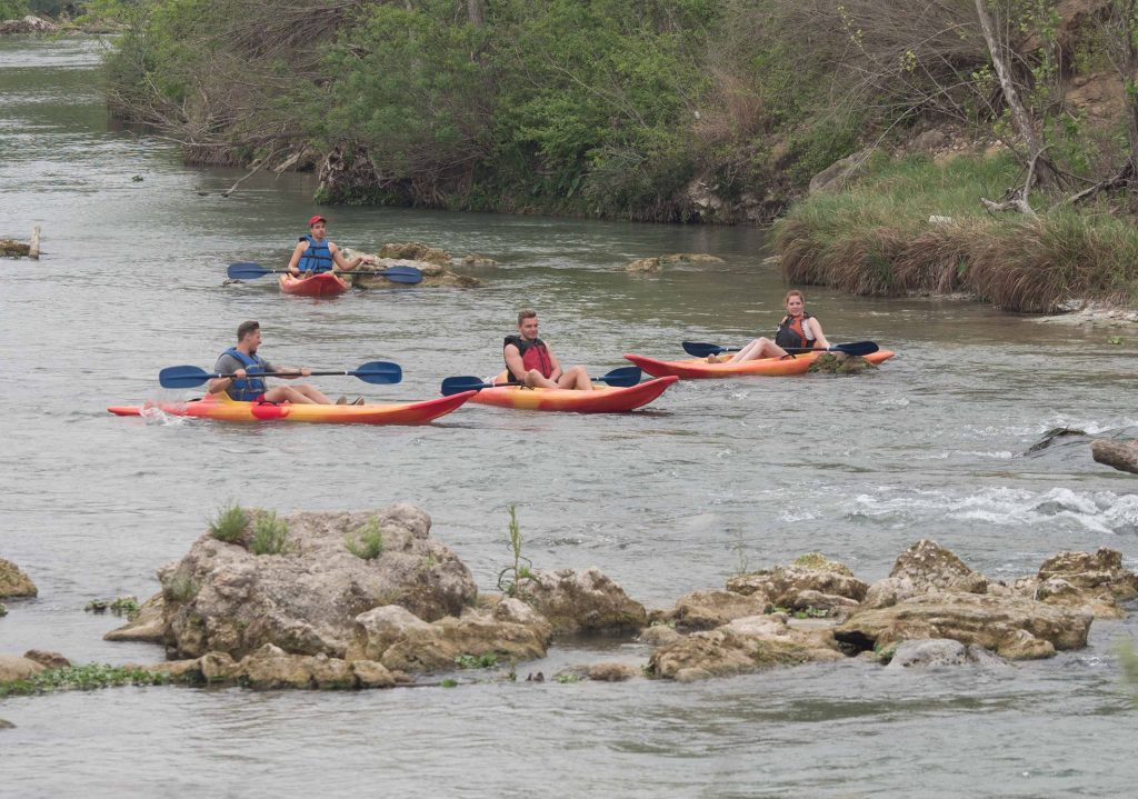 Kayaking on San Marcos River