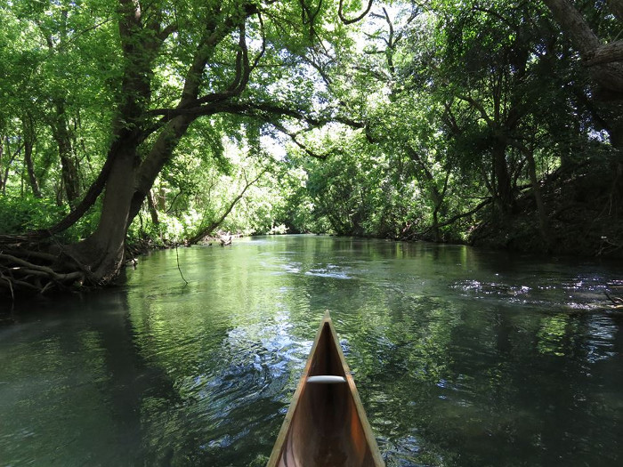 Peaceful Canoe Ride on San Marcos River