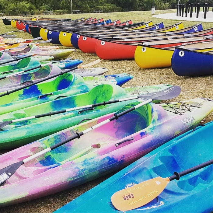 Paddle With Style Canoe and Kayak Fleet in San Marcos