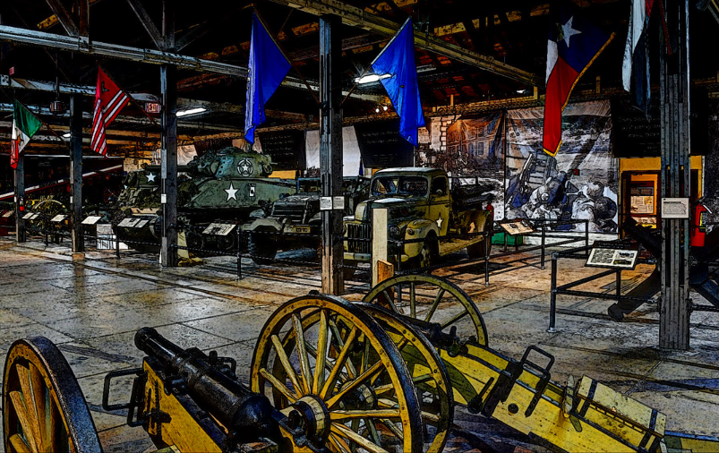 The Texas Military Forces Museum in Austin, TX